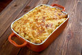 Pastitsio a greek and mediterranean baked pasta dish including ground beef bechame sauce Royalty Free Stock Photography