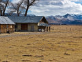 Pastoral abandoned ranch scene in the eastern sierra nevada range Royalty Free Stock Photography