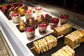 Pastries and desserts various in a bakery Royalty Free Stock Photo
