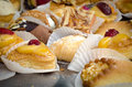 Pastries at a european cafe Stock Images