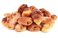 Pastries isolated on white background Stock Images