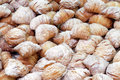 Pastries sfoglie full frame photo of sfogliatelle typical italian dessert Royalty Free Stock Photo