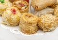 Pastries typical oriental with honey and nuts Royalty Free Stock Photo