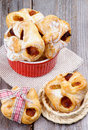 Pastry Baskets Jam Wrapped Royalty Free Stock Photo