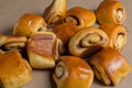 Pastry with cinnamon small baked rolls Stock Images