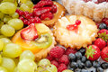 Pastry and fruit Stock Images