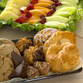Pastry and fruit tray