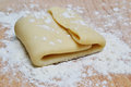 Pastry making of with dough pate and flour powder Stock Photo