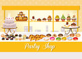 Pastry shop illustration of a Stock Photography