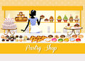 Pastry shop illustration of a Stock Images