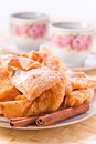 Pastry with sugar and cinnamon Royalty Free Stock Images