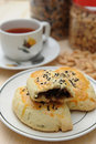 Pastry and tea Royalty Free Stock Photo