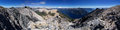 Patagonia landscape panorama from near the summit of pico turista near bariloche Royalty Free Stock Photos