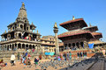 Patan durbar square one three durbar squares kathmandu valley nepal all which unesco world heritage sites Royalty Free Stock Images