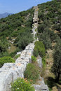 Patara aquaduct view of in turkey Royalty Free Stock Images
