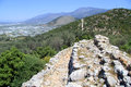 Patara aqueduct and mountain in turkey Royalty Free Stock Photography