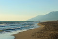 Patara beach sea and in antalya turkey Stock Image