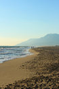 Patara beach sea and in antalya turkey Stock Photos