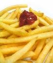 Patatine fritte Fotografia Stock Libera da Diritti