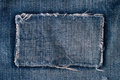 Patch on blue jeans