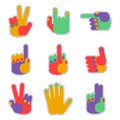 Patch color hands