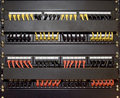 Patch cord panel Royalty Free Stock Photography