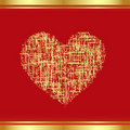 Patch-Heart in gold Stock Photography