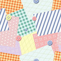 Patch seamless pattern. Vector Stock Photo
