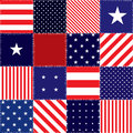 Patchwork of american flag seamless background pattern Royalty Free Stock Photography
