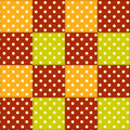 Patchwork autumn pattern color seamless background Royalty Free Stock Photos