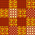 Patchwork autumn pattern seamless background Royalty Free Stock Image