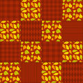 Patchwork autumn pattern seamless background Royalty Free Stock Photo