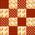 Patchwork autumn pattern seamless background Royalty Free Stock Photos