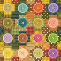 Patchwork background with buttons Stock Photos