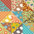 Patchwork background with different patterns illustration Royalty Free Stock Photo