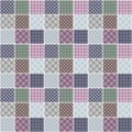 Patchwork background with different patterns illustration Stock Photo