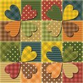 Patchwork background with different patterns illustration Stock Photos