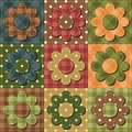 Patchwork background with different patterns illustration Stock Images