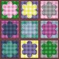 Patchwork background with flowers Royalty Free Stock Images