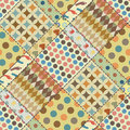 Patchwork background (seamless texture) with different patterns