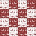 Patchwork background with wine illustration Stock Photos