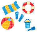 Patchwork beach set. Stock Images