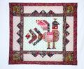 Patchwork blanket Stock Image
