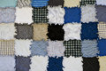 Patchwork blue and grey quilt texture background Royalty Free Stock Images