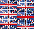 Patchwork of british flag seamless background pattern will tile endlessly Stock Image