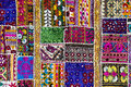 Patchwork carpet in India Royalty Free Stock Photo