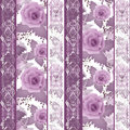 Patchwork design floral fabric texture pattern retro background Royalty Free Stock Photo