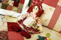 Patchwork dolls Stock Image