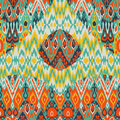 Patchwork ethnic bohemian arabesque pattern print. Seamless zigzag geometric ornament abstract background. Colorful tribal