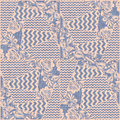 Patchwork fabric textile seamless pattern vector.